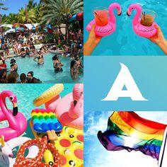 """Vom 11.-15. Mai ist es wieder soweit: Beim Aqua Girl Fundraiser-Festival treffen sich tausende Mädels der LGBT Szene zu spektakulären kulturellen Veranstaltungen und Partys an den """"sexy"""" Stränden von Miami Beach."""