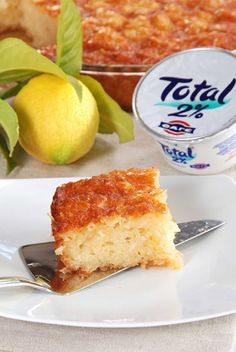 FAGE Greek Yogurt Healthy Lemony Cake