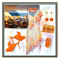 """""""Summer Dresses: Alfresco Dining Dress"""" by onesweetthing on Polyvore featuring Temperley London, Charlotte Olympia, Gucci, Chantecler, Forest of Chintz and Mark Davis"""