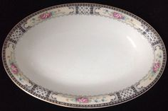 "1914-1925 W. H. Grindley China Lot ""The Harvard"" 9"" Platter #WHGrindley"