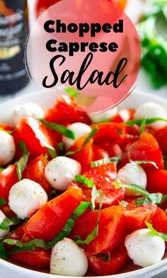 Summer Lunch Recipes, Easy Summer Salads, Caprese Salad Recipe, Antipasto Salad, Eating Light, Cooking Recipes, Healthy Recipes, English Food, Cooking Instructions
