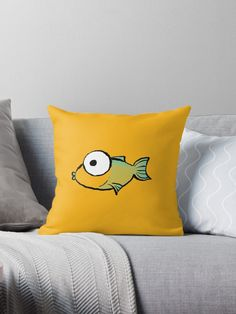This brand new 'Yellow and Green Fish' design will look great on any product. It is fun, cute and eye-catching. / Find somebody the perfect gift! Choose from the many varieties of products and BUY IT NOW to place your order. Fish Design, Designer Throw Pillows, Pillow Design, Looks Great, Finding Yourself, Floor, Artists, Eye, Yellow