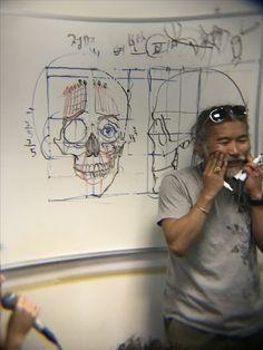 Kim Jung Gi Sketch Collection, News, and More! Face Anatomy, Anatomy Drawing, Anatomy Art, Drawing Reference Poses, Anatomy Reference, Art Reference, Drawing Base, Figure Drawing, Drawing Lessons