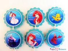 Personalized Little Mermaid Birthday by PaperHeartsScissors, $7.00