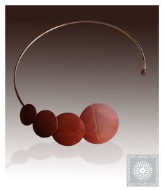 This unusual necklace is made of natural vegetable-tanned leather. Leather natural color without chemical coloring agents. Natural texture of the leather gives this necklace its exclusive charm. You can see in the photos. Over time, copper base necklace will get a color similar to skin color, and will look even more spectacular. Necklace has no clasp. Copper base rugged and inflexible has a gap. This gap makes it easy to put on and take off necklace . You can rotate the necklace around…