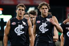 Ed and Charlie Curnow. Rugby Players, Football Players, Carlton Afl, Carlton Football Club, Australian Football, Netball, Athletic Men, Sports Stars, King James