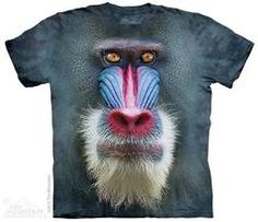 Big Face Mandrill Baboon T-Shirt
