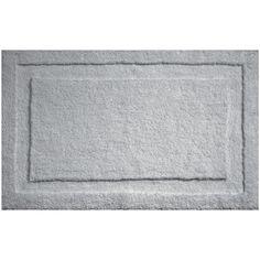 Spa Bath Rug featuring polyvore, home, bed & bath, bath, bath rugs, gray bath rug, grey bath rug, gray bathroom rugs and grey bathroom rugs