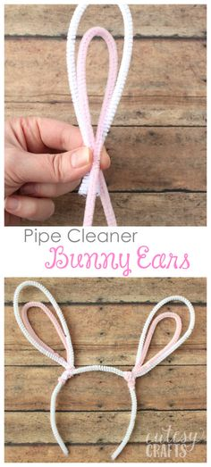 The kids will ove making this easy Kids Easter Craft - Pipe Cleaner Bunny Ears..so cute!