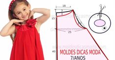 7 patterns for dress sewing ( Dresses for girls). Girls Tunics, Girls Dresses, Prom Dresses, Summer Dresses, Summer Outfits, Evening Dress Patterns, Sequin Evening Dresses, New Dress Pattern, Kids Patterns