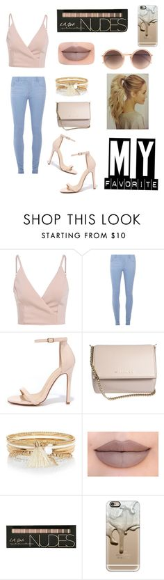 """""""Nude colors"""" by juliadinh101 on Polyvore featuring Dorothy Perkins, Liliana, Givenchy, River Island, Jeffree Star, Casetify and Linda Farrow"""