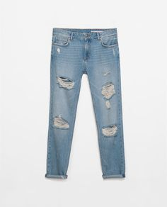 Image 9 of BOYFRIEND FIT RIPPED JEANS from Zara