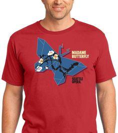 Madame Butterfly T-Shirts, Seattle Opera