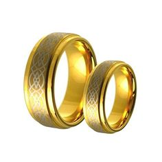 His & Her's 8MM/6MM Gold Tungsten Carbide Wedding Band Ring Set w/Laser Etched Celtic Design tungsten jeweler http://www.amazon.com/dp/B012UIGNV4/ref=cm_sw_r_pi_dp_oYqzwb0JHJB01