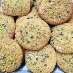 Μπισκότα αμυγδάλου με φυστίκια Αιγίνης | ION Sweets