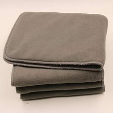 5 Reusable Washable Cloth Diaper Nappies Inserts Liner Charcoal Bamboo 5 layers