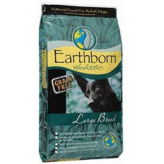 Wells Pet Food Earthborn Holistic Natural Food for Large Breed Dogs, 28-Pound Bag ~~ You can learn more by visiting the image link. (This is an affiliate link and I receive a commission for the sales)