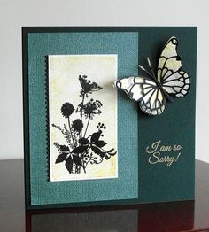 Green and Gold - So Sorry by katarzyna - Cards and Paper Crafts at Splitcoaststampers
