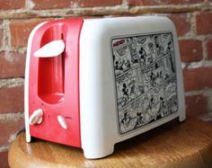 Rare Vintage Mickey Mouse Comics Toaster Oven / Disneyana by Villaware