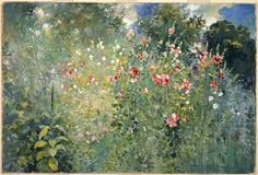 """aleyma: """" Ross Sterling Turner, A Garden in a Sea of Flowers, 1912 (source). """""""