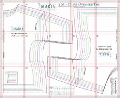 105 - Olivia Oversize Tee | MariaDenmark Sewing PatternsMariaDenmark Sewing Patterns