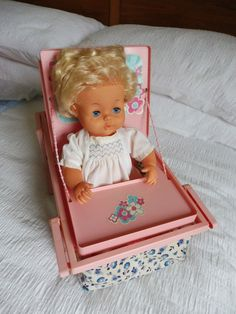 Tiny Tears 1976 Care Set - RARE - Carry cot / changing / feeding | eBay
