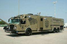 future, Fire-Fighting Wildfire Truck, vehicle, concept, red, Morita ...
