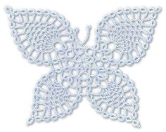 TATtle TALES Tatting Patterns: Tatting Doily Pattern Butterfly Wheel with Cameo Edging: