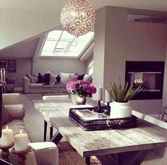 modern neutral colours loft