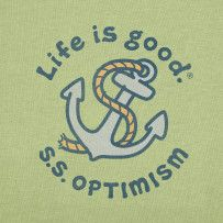 "Men's Optimism Anchor print for ""Life is Good"""