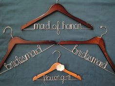 Hangers for the bridal party