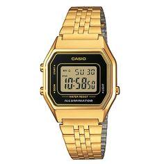 <p>Montre mixte <strong>CASIO </strong>Vintage, boite en résine chromée, bracelet en acier inox. Fonction alarme quotidienne, chrono et compte à rebours.</p>
