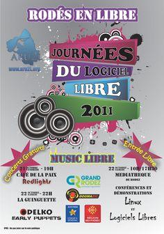 Poster for «Rodés en Libre» 2011 Creation: september 2011 - France