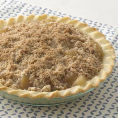 Gluten Free Streusel Apple Pie made with Bisquick Gluten Free mix - such an easy pie to make with a no roll crust!