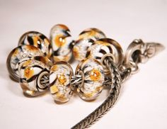 Lampwork by Anne Meiborg  Artisan charm bead small by AnneMeiborg
