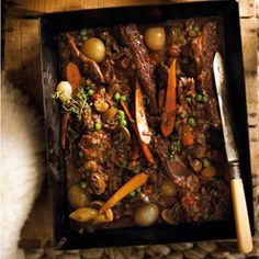 Slow-cooked beef short ribs - recipe in Afrikaans (Google Chrome can translate this:-)