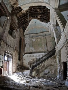 nothing is more beautiful than roaming a destroyed building. it makes you feel like a ghost.