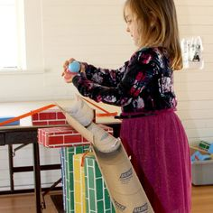 Design, build, and test a ramp using cardboard and other household materials. Discovery Museum, Catapult, Activities For Kids, Household, Rolls, Creativity, School Life, Bay Area, Science
