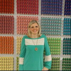 """Now I'm grudging !! Wondering where could I get an awesome #auriwall like Kimberly Jolly's from Fat Quarter Shop one ? ... wait ... let me see """" Hey can someone from Aurifil's warehouse come to Alex's office with some thread holders and many beautiful spools ? """""""