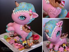 Custom TOKIDOKI Unicorno made by Xanthi (BJD artist).  Shared on her Tumblr.