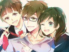 Makoto, Ren, and Ran Tachibana