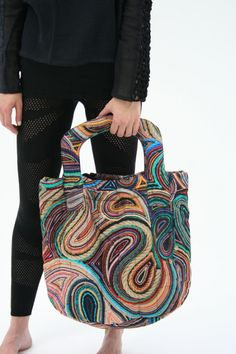 LOVE it! Oh, the textures, and colors. Beklina :: Hui Hui Quilted Shopper Tote #bag #germany