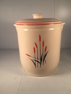 Vintage 1940s Sears And Roebuck Cat Tail Cookie Jar With Cover. | eBay