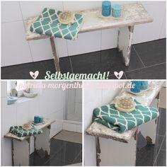Deko Ideen: Mein Badezimmer mit selbstgebauter Badewannenablage. DIY Idee Weitere tolle DIY Ideen, Deko und Basteltipps findet ihr unter: www.homemadebypatricia.de