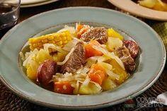 Receita de Cozido de carne com legumes especial em receitas de carnes, veja essa e outras receitas aqui!