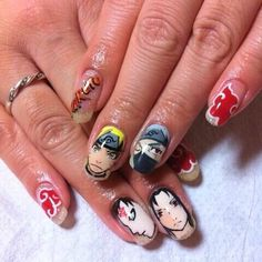 NARUTO : Character nail art