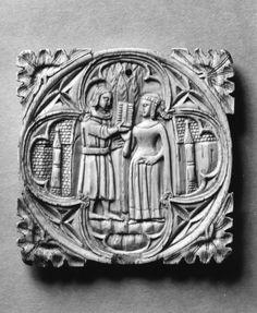Mirror case, Italy 1390-1400