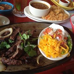 """Famous for """"Legendary Tex-Mex"""", serving up sizzling fajitas, hand-crafted margaritas and some of the best chips & homemade salsa around Beef Fajita Marinade, Beef Fajitas, Best Chips, Homemade Salsa, Mexican Dishes, Tex Mex, Houston Tx, Ketogenic Diet, Pork"""