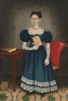 VMFA Portrait of a Girl Painting by Erastus Salisbury Field