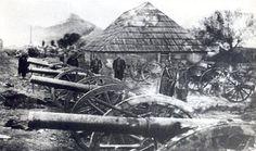 Zaplijenjeni turski topovi na Jasikovcu kod Berana 16. oktobra 1912-te prilikom oslobođenja ovog grada od Turaka